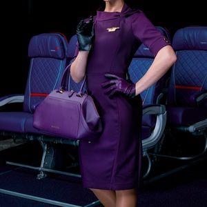 NWT Zac Posen DELTA Purple Leather Satchel